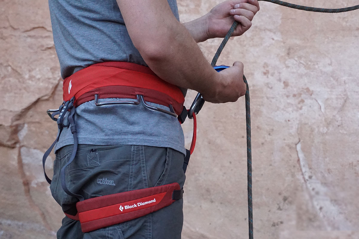 Review The Momentum Harness By Black Diamond Adventure Rig